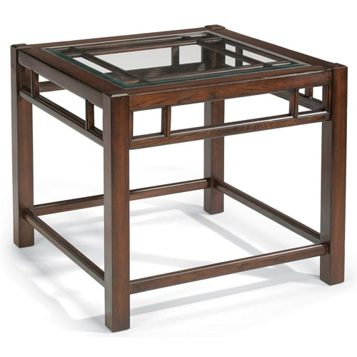 Glass top end table 2