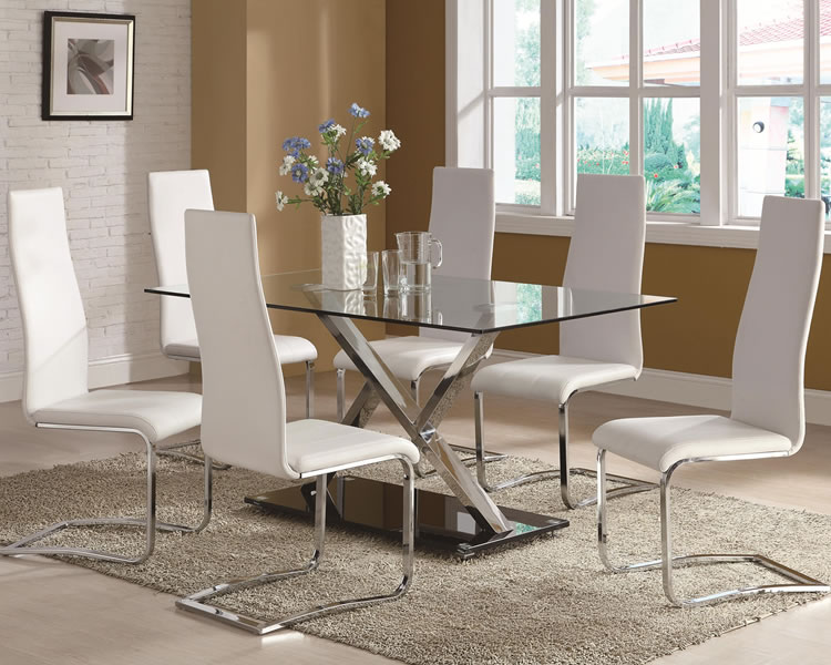 Glass top dining table 2
