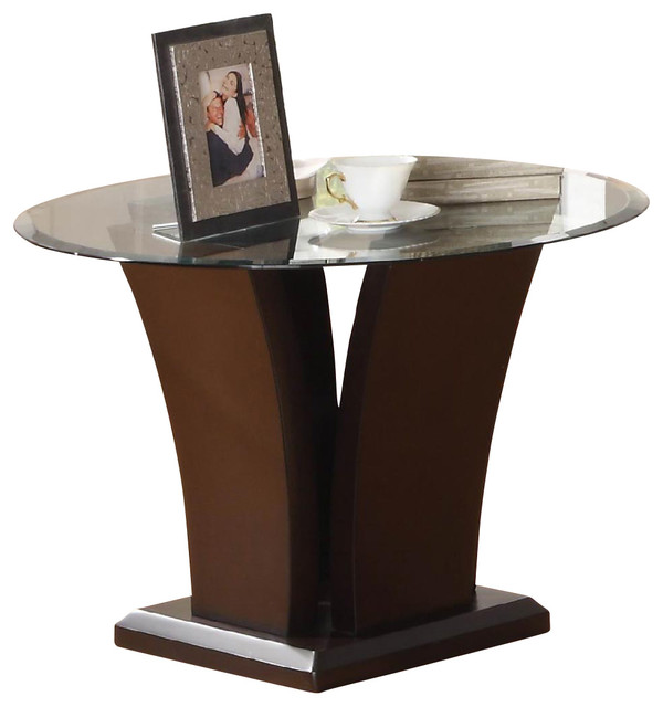 Glass top end table 3