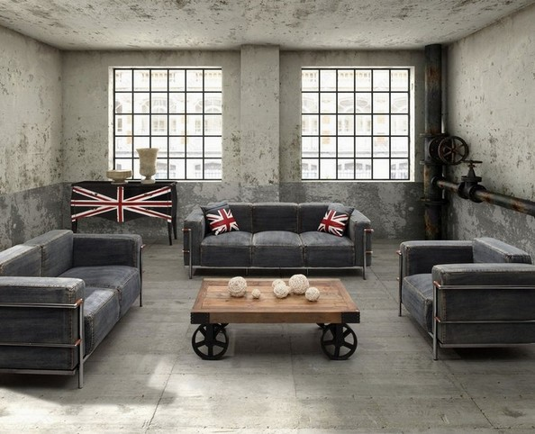 Beautiful Denim Loveseat Collections