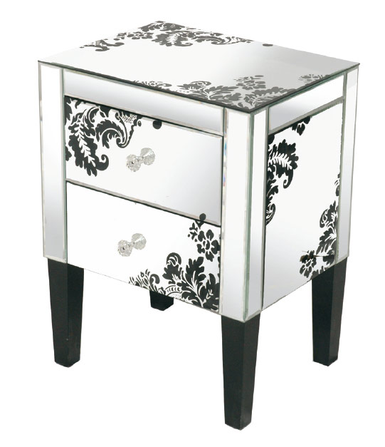 Mirrored end table 3