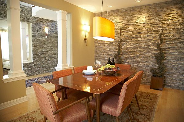 Stone interior walls design
