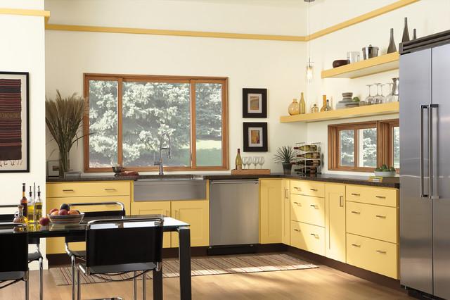 Modern Kitchen Windows Installing Position