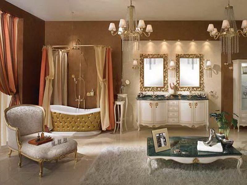 Royal restroom decorating