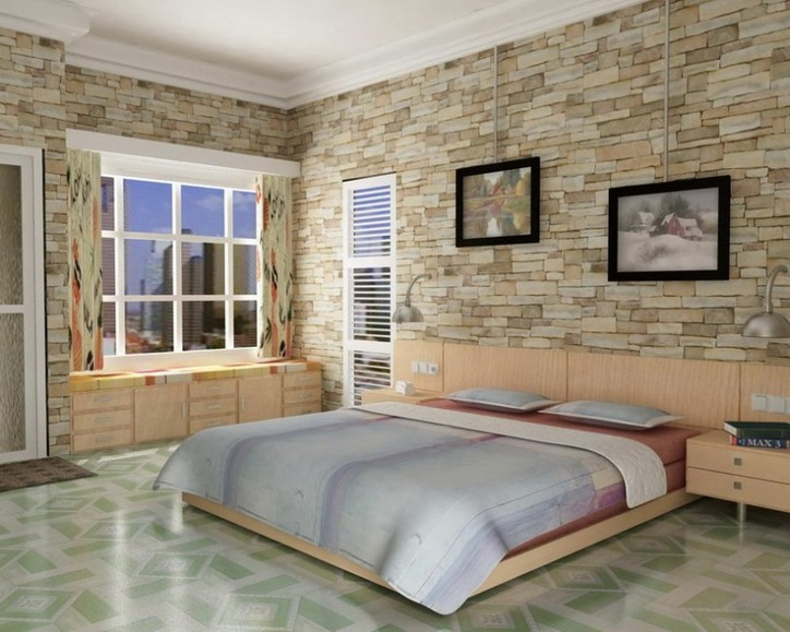 Stone interior walls design 2