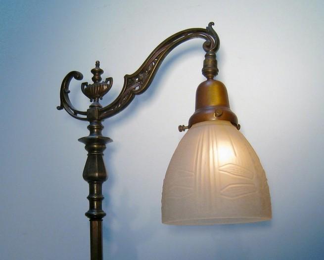 bridge arm floor lamps