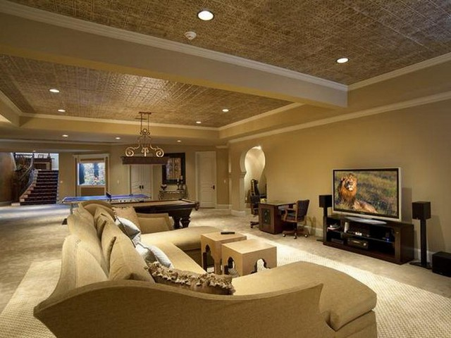 The simplest basement ceiling ideas