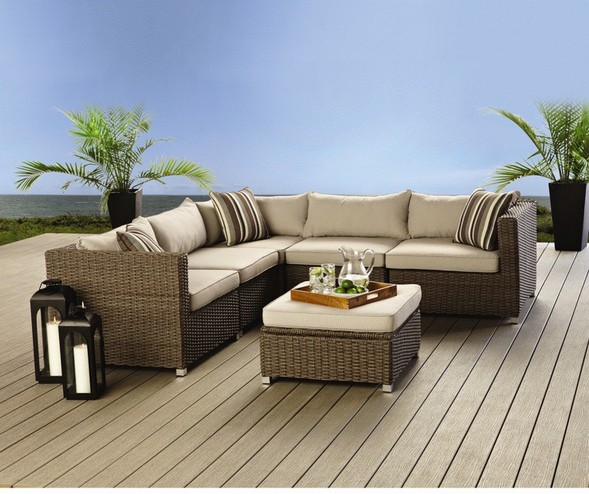 Comfortable and convenient patio sectional