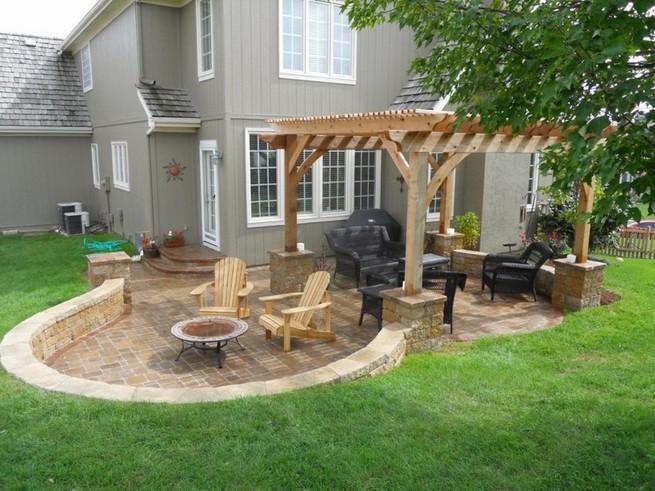 Block Paving Ideas For Gardens, Small Patio Wall Ideas