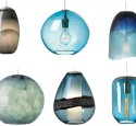 Light blue pendant lighting fixtures