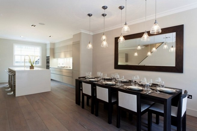 Framed mirrors for dining room