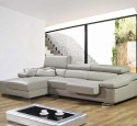 Small spaces sectional sofa grey