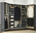 Portable wardrobe wood