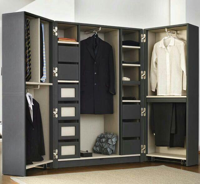 Portable wardrobe wood