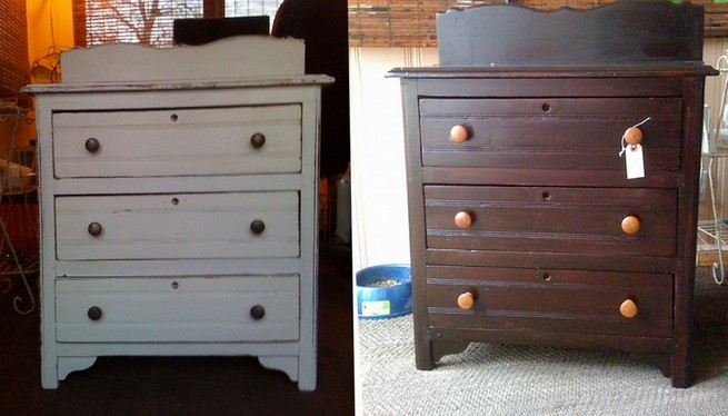 Painted dressers: buy a ready-made one or paint yourself