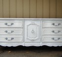 White dressers and nightstands