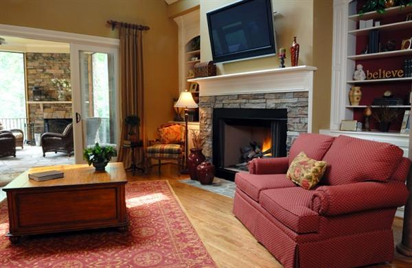 Design Living Room Without Fireplace