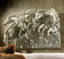 Ceramic wall art for outdoors