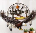 Metal eagle outdoor wall art