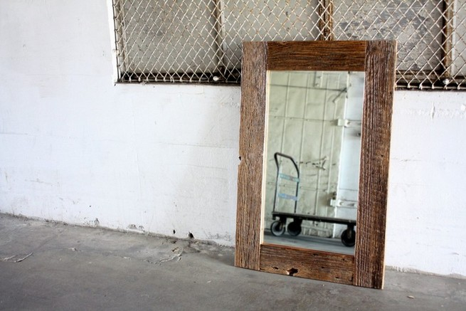 Rustic wooden framed mirrors