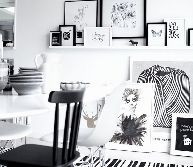 Black and white love wall art