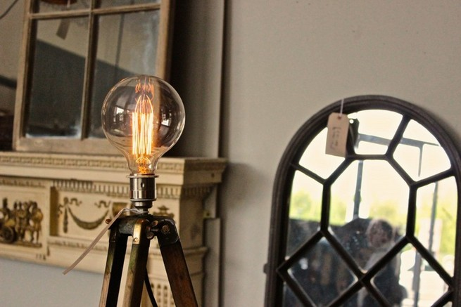 Antique floor lamps bring vintage breath to your home interior
