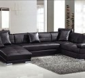 Small sectional sofa black