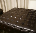Extra large faux leather ottoman