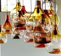 Art glass pendant lighting fixtures