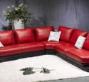 Small sectional sofa red