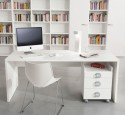 White computer desk for home office