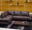 Small sectional sofa brown