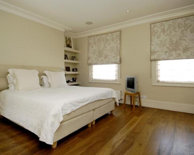 Bedroom bay window curtain ideas