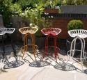 Industrial bar stool vintage