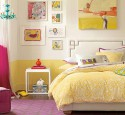 Teenage girl bedroom ideas yellow