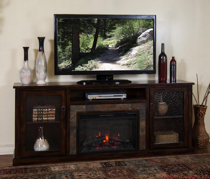 Electric Fireplace TV Stand & Media
