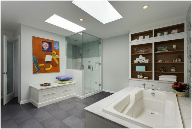 Convenient bathroom bench: advantages and designs