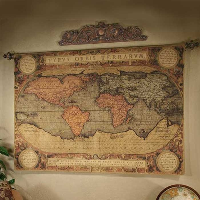 Top 7 photos World map tapestries for wall in the house