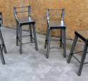 Industrial bar stool with back