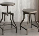 Industrial metal bar stool