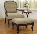 Bedroom chairs with ottoman