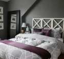 Bedroom ideas purple and grey
