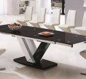 Glass top dining table seats 10