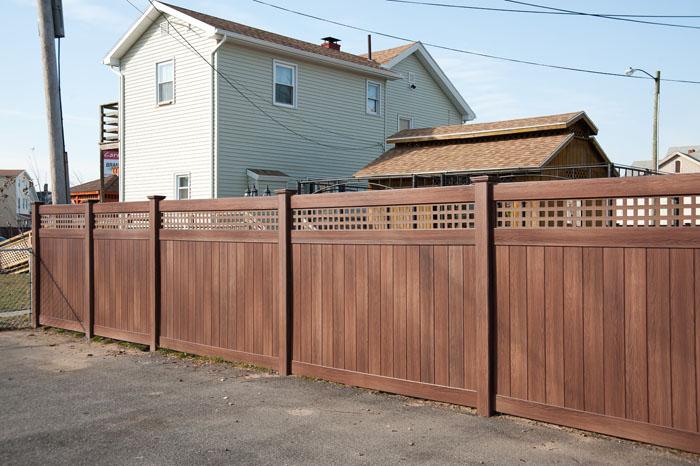 Vinyl Fence Wood Grain
