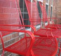 Patio chairs red