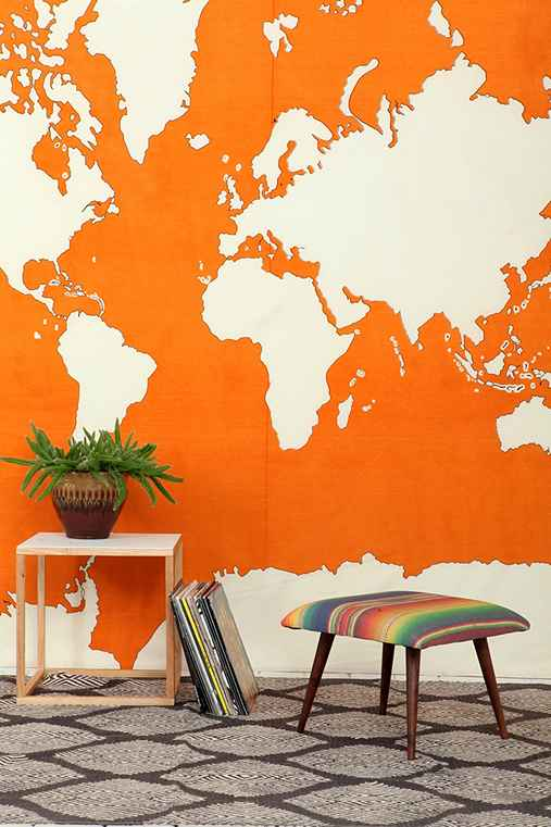 world map tapestry urban outfitters