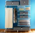 Free standing closet storage