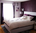 Elegant purple bedroom ideas
