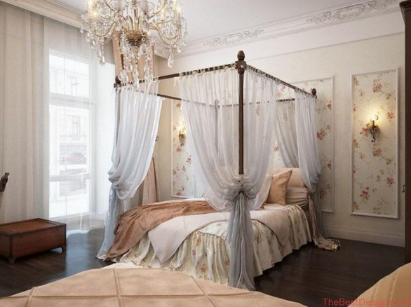 Canopy Bed Curtains Translucent