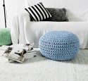 Pouf ottoman in living room